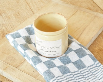 Decorative brocante french jam jar- confiture pot,  ironstone