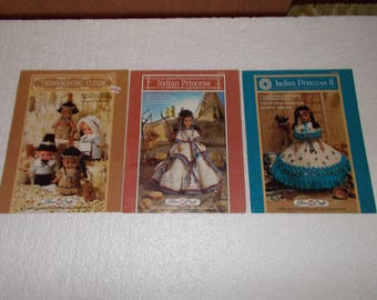 Indian Princess, Indian Princess II and Thansgiving Cupids (3) Doll Patterns to Crochet