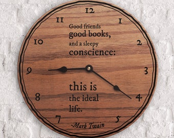 Popular Quotes - Famous Quotes - Best Quotes - Good Friends Good Books And a Sleepy Conscience - Mark Twain