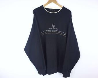 Rare!!! Vintage Gianni Valentino Sweatshirt Gianni Valentino Spellout Pullover Jumper Sweater