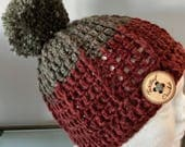 Ribbed Winter Beanie | Child size | pom pom