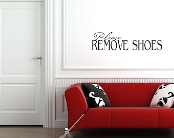 Remove Shoes Decal Etsy - Custom vinyl wall decals cheap   how to remove