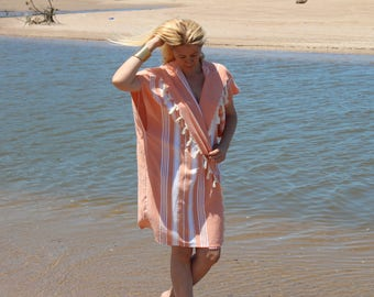 Turkish %100 Cotton,Towel,Beachdress,Travel,VerySoft,naturalColor,Size 36-46