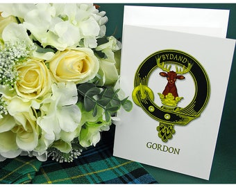 Greeting Cards Clan & Crest - Gordon