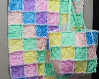 Nappy Bag with Matching Baby Blanket