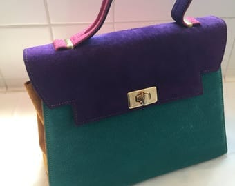 Vintage Colorblock Handbag by Dollar Grand