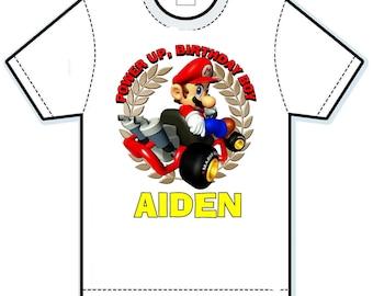 Super Mario power up birthday shirt