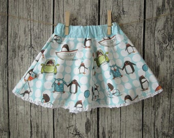 Sweet girl skirt, turquoise/white, Gr. 86/92