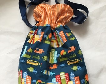 drawstring bag , cars , bag , ribbon
