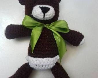 Knitted Teddy Bear Amiguuri