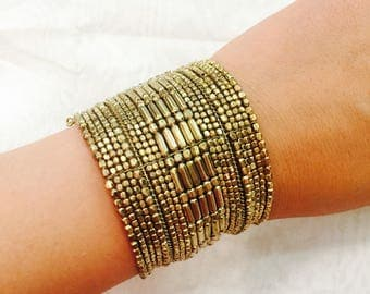 Adjustable Gold and silver bracelet