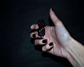 Dice handmade ring