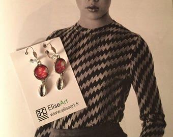 Earrings fantasies retro chic shell