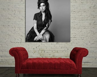 45bw Poster Wall Mural Amy Winehouse Canvas & Stretcher Bars