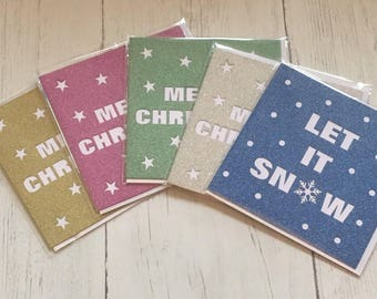Confetti Style Glitter Christmas Cards