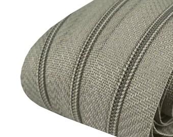 5m of endless zipper 3mm with 10 zipper + 15 tails 317 medium grey