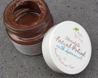 Chocolate Facial Polish, Facial Scrub, Face Scrub, Face Exfoliant