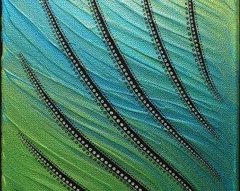 Modern painting: abstract seaweeds.