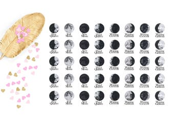 Moon Phases Planner Stickers