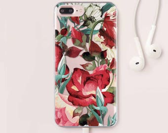 Flowers iPhone 7 Case iPhone 6 Case iPhone SE Case For Samsung S7 Case Floral iPhone 6S Case For Samsung S6 Case iPhone 7 Plus Case 061