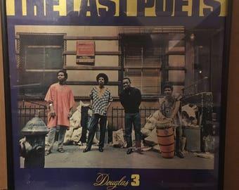The Last Poets - S/T (1970) Vintage Vinyl Record Framed LP Album Classic hip-hop Soul