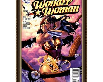 WONDER WOMAN #1 - August -2006, Who Is Wonder Woman, Comics Art Paintings, Oil On Canvas, 20 x 30 in