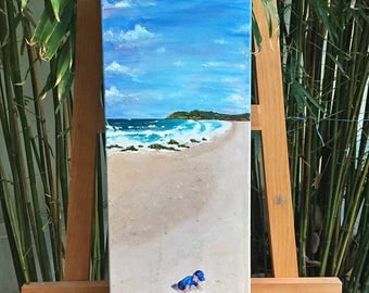 FREE SHIPPING! - Sandcastles - Original Acrylic Painting on Canvas