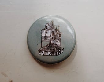 """The Burrow - Harry Potter - 1.25"""" pinback button"""