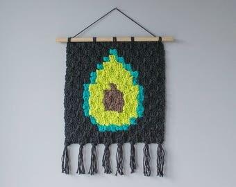 INSTANT DOWNLOAD: Avocado C2C Wall Hanging Pattern / Crochet Graph / Crochet Pattern / Corner to Corner