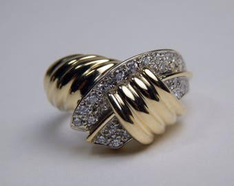 14k gold .50 Ctw diamond ring #10585