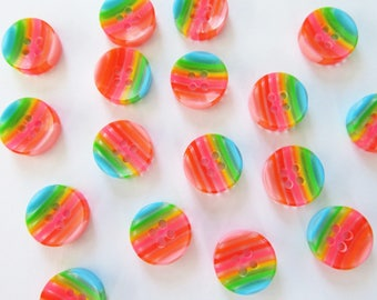20 rainbow buttons - gay pride buttons - LGBT buttons