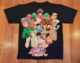 Vintage  Street Fighter Shirt, Video Game shirt, Nintendo Shirt