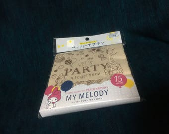 Sanrio my melody paper napkins 15p from Japan