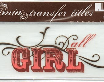 All Girl Title Rub On Transfer Embellishments Cardmaking Crafts My Mind's Eye Bohemia