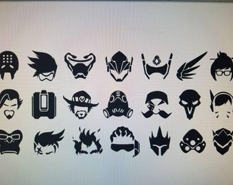 OverWatch character head decal