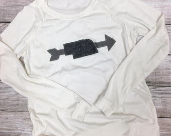 Nebraska arrow white-eco long sleeve tee