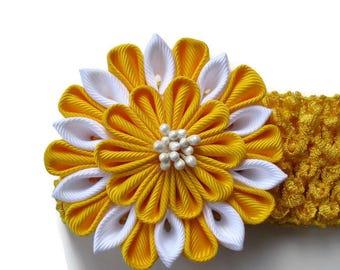 Yellow Chrochet Headband