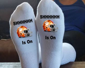 Clemson Tigers, Football Socks, My Team Is On, Customized, We Can Make Any Team, Clemson, Tigers, Clemson Football, ACC, Sports Socks,