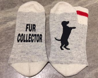 Silhouette of a Cat or Dog ... Fur Collector (Socks)