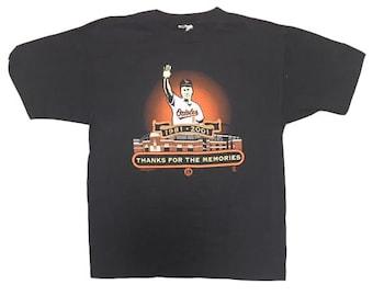 Vintage Cal Ripken Jr Shirt Cal Ripken Baltimore Orioles MLB retirement shirt Thanks for the memories Size XL