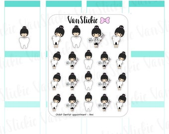 Chibits -Dentist Appointment Planner Stickers | VSC 061