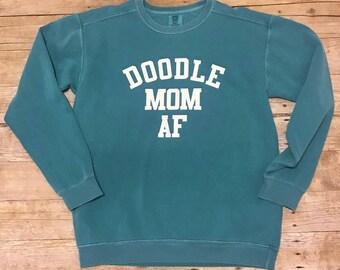 Doodle Mom AF / Doodle Dad Crewneck
