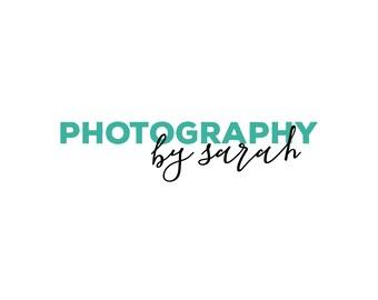 Modern Turquoise Logo / Teal Logo / Modern Logo Design / Photography Logo and Watermarks / Shop Logo / Minimalist Logo / Classy Logo