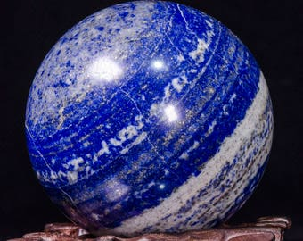 """2.56""""Best Lapis Lazuli Sphere/Lapis Lazuli Crystal Ball/Healing Crystal Sphere/Wiccan/Pagan/Home Decor/Lapis Crystal Sphere/Gift for her4228"""