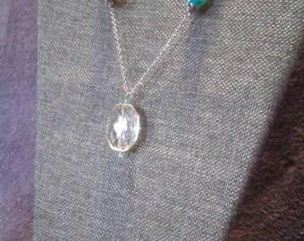 Clear crystal pendant
