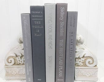 Gray Decorative Book Set