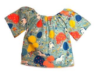 24m Rts Unicorn bell blouse
