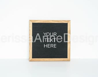 Letter Board Frame Mockup / Stock Photo / White / Styled Stock Photography / Minimal Letterboard / Merissa Anne Designs High Res File # 336