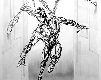 Spider-Man Iron Spider Drawing