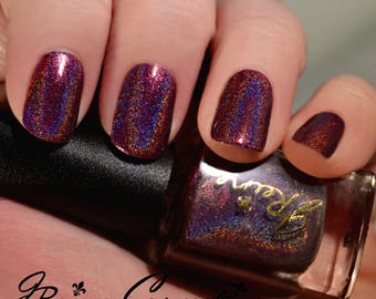 Wine & Shine - Holo Berry Red Wine Holographic Nail Polish